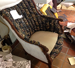 We re-upholstery - Before